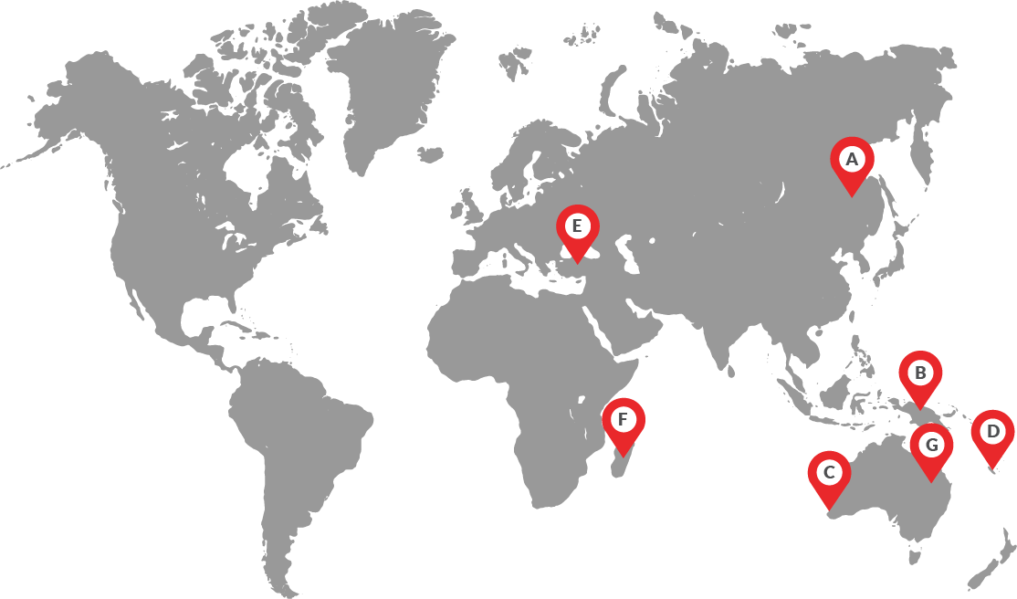 Areas covered by Process Plants International